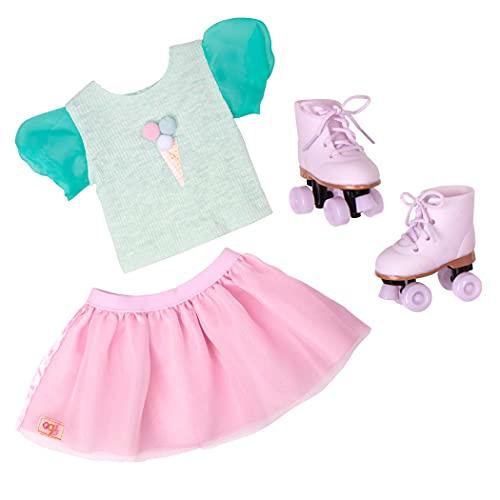 Our Generation- Ropa Clásica para muñeca - Falda y Patines, Color (Battat BD30472Z)