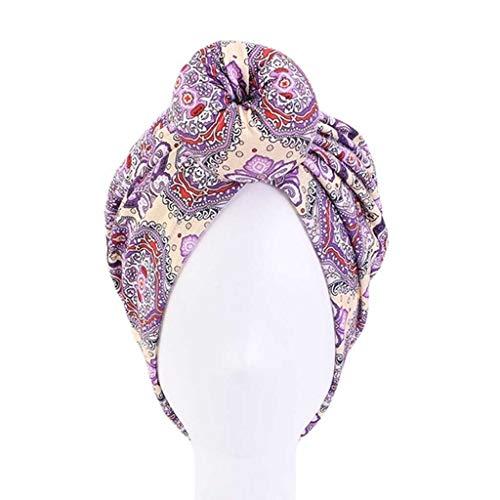 SHYPT Cap coloración del Cabello Diadema Styling India Dona Haircaring Turbante Sombrero de Chemo algodón de Las señoras satén de la Manera Dot Cimera del Capo (Color : E)