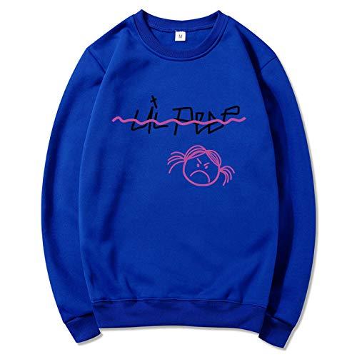 NIGHTMARE Gym Sweatshirt Lil Peep Fleece Decke Hoodie HoodedDecke Damen Schneeflocke Midi Weihnachten Pullover Pullover Pullover XXXL