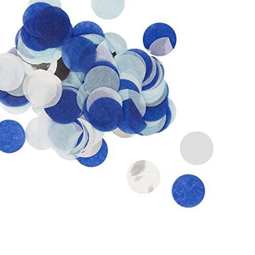 Oblique Unique® Papier Konfetti Blau Silber Schwarz Tisch Streu Deko für Geburtstag Party Hochzeit Feier JGA Junggesellinnenabschied