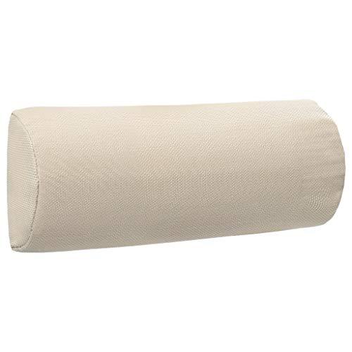 vidaXL Appui-tête de Chaise Longue Oreiller de Chaise Longue Coussin de Bain de Soleil Appui-tête de Transat Crème 40x7,5x15 cm Textilène