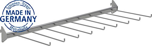 IB-Style - Regalsystem Easy HOSENHALTER | Pro Stück | 800 x 300 mm | 9 Hosen | Made in Germany | TÜV geprüft | GS Zeichen |Wandleiste Wandschiene Träger Halterung