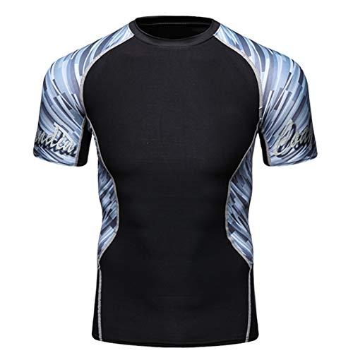 YXYBABA Heren sport body shaping Fitness panty Basketbal training sneldrogende nacht running korte mouwen Ademend T-shirt sneldrogende kleding