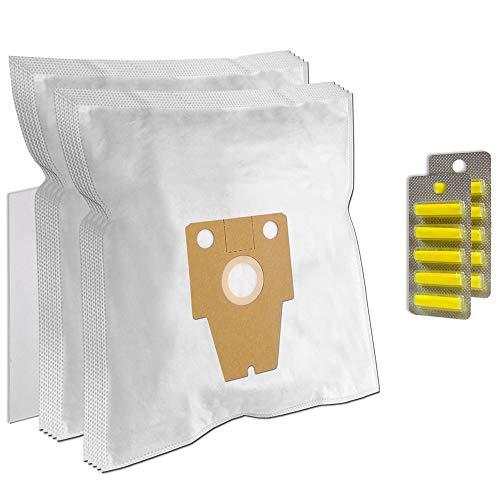 PakTrade SPARSET - 10 Duftstäbchen + 10 Staubsaugerbeutel geeignet für Bosch BSG8PRO 1, BSG81000, BSG81030 Ergomaxx Professional