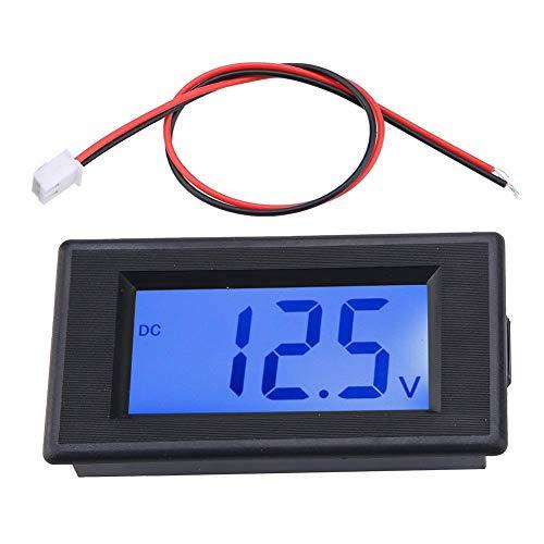 Dual Display Digital Voltmeter, Zwei Draht DC Spannungsprüfer LCD Flüssigkristallanzeige, Digitalvoltmeter 4-30V hohe Präzision mit Verpolungsschutz