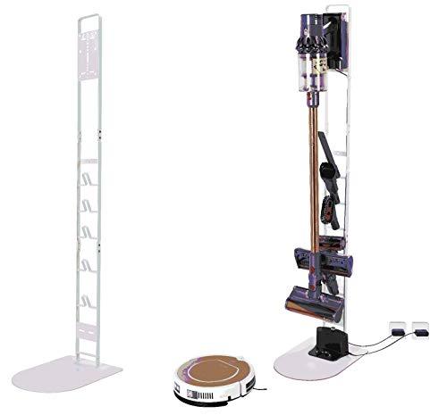 Luchs Ständer für Dyson Rowenta Philips Xiaomi Akkusauger - Organizer für Dyson V6,V7,V8,V10,V11,DC30,DC31,DC34,DC35 Standfuß Halterung Rahmen - Robo (Weiss)