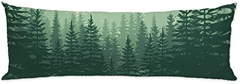 GUGLILI Nature Forest Scenery Body Pillow Case Cover Machine Washable with Zipper Double Sides product image