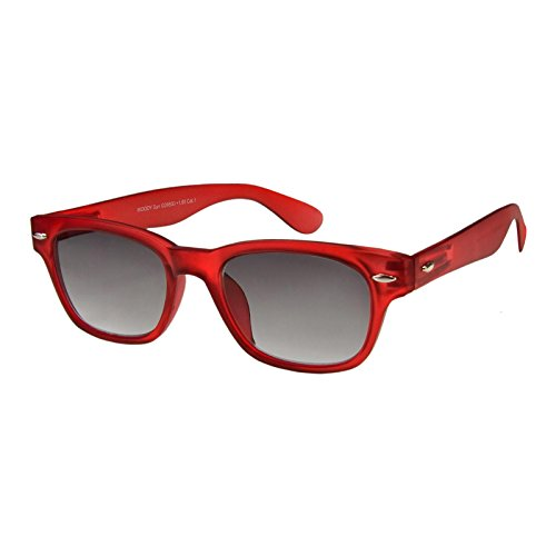 I NEED YOU Lesebrille Woody Sun / +2.00 Dioptrien / Rot