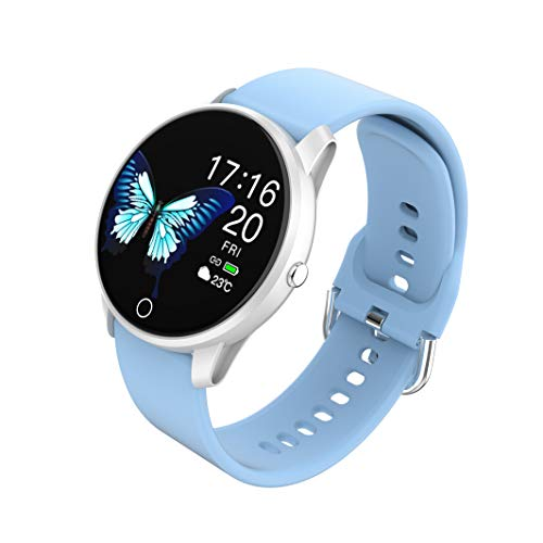 BIGCHINAMALL Relojes Inteligentes Pulsera Actividad Smartwatch Mujer (Azul)