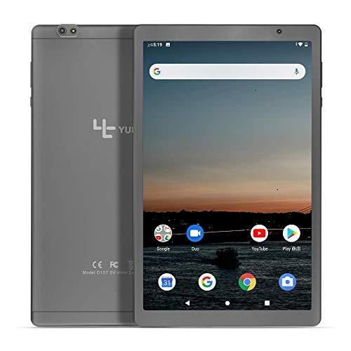 [2020 Neu] YUNTAB 10.1 Zoll Android Tablet, SC9863 Octa Core CPU 1.6 GHz, 2 GB RAM + 32 GB ROM, Android 9.0 OS, WiFi, Bluetooth,Dual-Kamera, HD-IPS-Display(Grau)