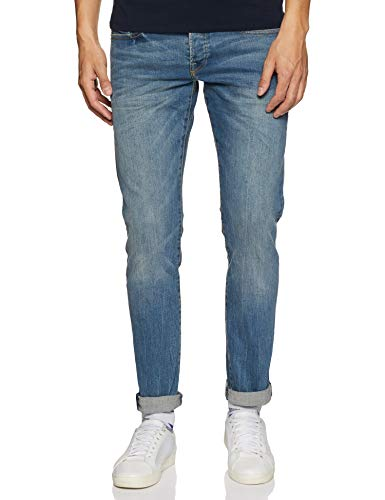 Scotch & Soda Herren Slim (Schmales Bein) Nos Ralston-Scrape and Shift, Blau (Apple 80), W32/L32