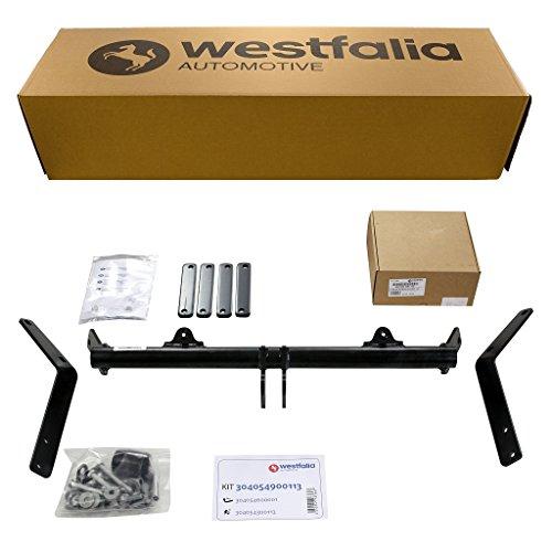 Westfalia Starre Anhängerkupplung - AHK für Citroen Berlingo (inkl First) (BJ 11/96-11/1), Peugeot Partner Kasten (inkl Origin) (ab 11/96) im Set mit 13-pol. fzg.-spez E-Satz