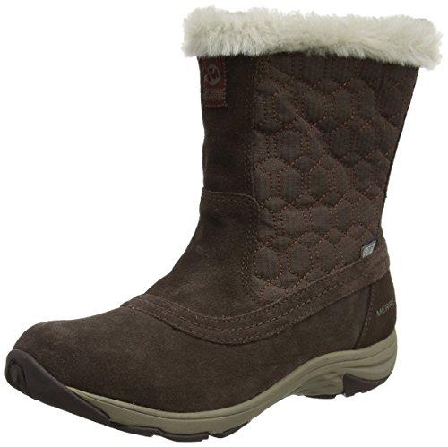 Merrell Ryeland Tall Polar Waterproof, Botas de Nieve para Mujer, Marrón (Espresso), 36 EU
