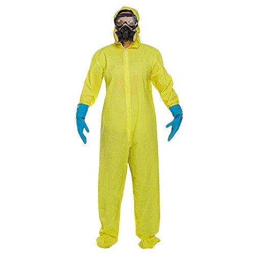 Adultes Bad Chimiste costume comprend Combinaison, masque, lunettes et gants