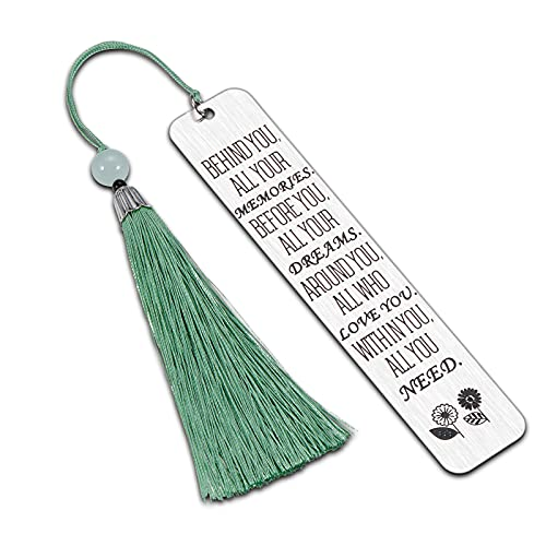 Bookmark with Tassel Inspirational 2021 Graduation Gifts for Him Her Daughter Son Boys Girls Birthday Christmas Gifts for Women Men High School Students Teacher Book Lover Bookworm Reader from Dad Mom
