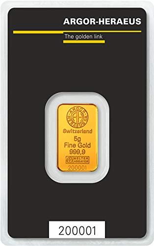 Argor-Heraeus 5g Goldbarren 999.9 Blister