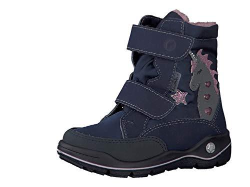 RICOSTA Fille Bottes & Boots Annika, Bottes d'hiver pour Enfants, Chaussures d'extérieur,doublées,imperméables,Marine/Nautic,29 EU / 11 UK