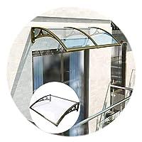 GuoWei ドアキャノピーオーニング、 屋外の透明なポリカーボネート製サンカバー、 スケーラブルな屋根の雨と雪の避難所、 カスタムサイズ (Color : 明確な, Size : 60x60cm)