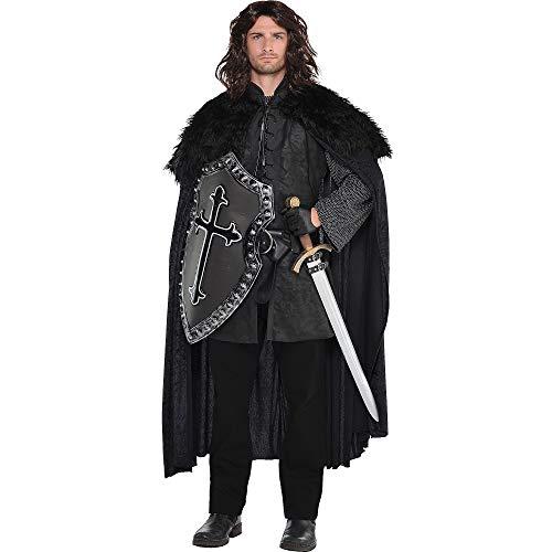 amscan Amscan 847451 Black Fur Cloak – Adult Standard, One Size