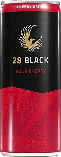 28 BLACK エナジードリンク 250ml 缶 【 24本 12本 】 【 サワーチェリー 】 (サワーチェリー, 12本パッケージ)