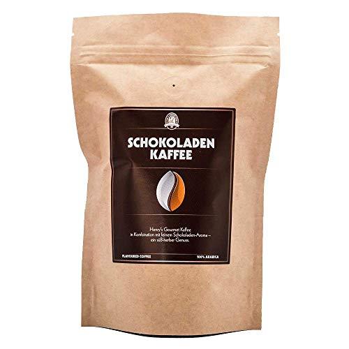 Henry´s Schokoladen Kaffee 250g - Gourmet Kaffee mit feinsten Aromen verfeinert - handwerkliche Röstung - Premium Kaffeebohnen