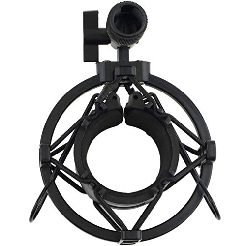 JYDQM Universal 3KG Bearable Load Mic Microphone Shock Mount Clip Holder Stand Radio Studio Sound Recording Bracket Black Professional