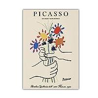 Pablo Picasso 線 平和花 肖像 絵画 リビング ルーム 装飾 壁アート プリント キャンバス ピカソ ポスター 壁掛け ホーム 回廊 壁 装飾