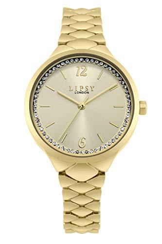 Lipsy Damen Analog Quarz Uhr mit Aluminium Armband LP600