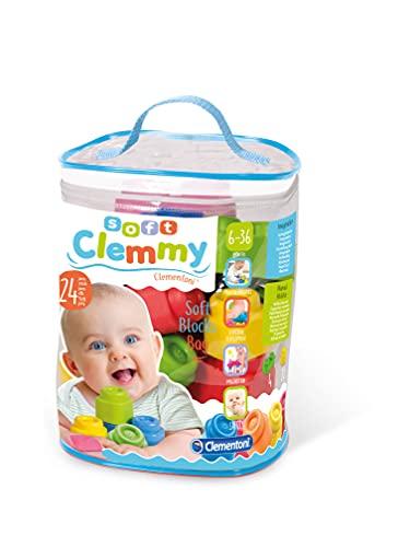 Clementoni 14889 Baby Clemmy Sacca, 24 Mattoncini