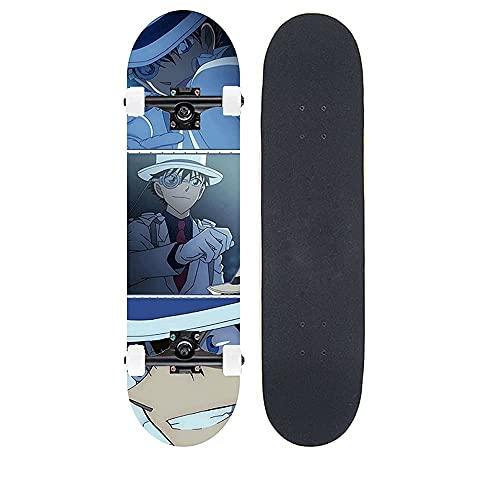 "Demon Slayer Series Anime Skateboard Kaitou Kiddo Colección De Ilustraciones Patrón De Transferencia De Calor Tabla De Skate De Arce De 7 Capas Tabla De 31 ""de Largo Rodamiento De Doble Balancín 100 K"