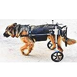 Silla de ruedas ajustable para perros grandes, coche para caminar asistido por perros discapacitados, para coche de ejercicios de rehabilitación de patas traseras, peso aproximado (15-60 kg / 33-132