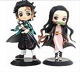 bolin Nezuko Tanjirou Figura Kochou Shinobu Y Kamado Nezuko Figura De Acción Modelo Muñeca Juguetes B 2 unids/Set