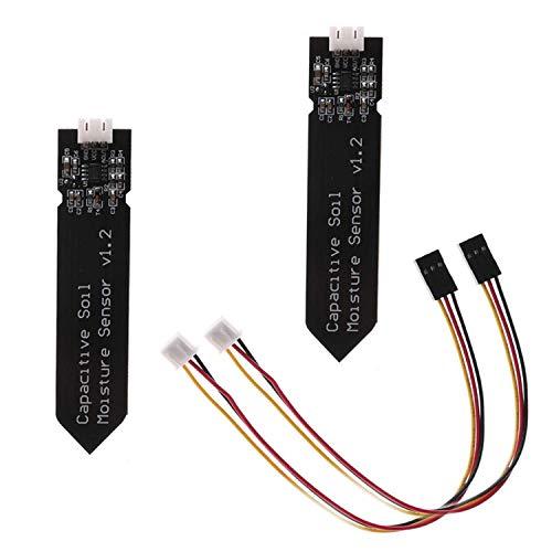 YouU 2 Stück Bodenfeuchtesensor Kapazitive Analoger Hygrometer Feuchtigkeitssensor ohne Korrosion für Arduino