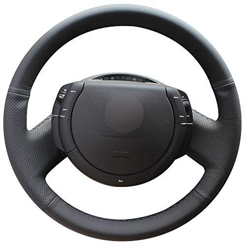 WANGXI Envoltura de Cubierta de Volante de Coche cosidos a Mano,para Citroen Triumph C4 2005-2009 2010,Protector de Cuero de Microfibra