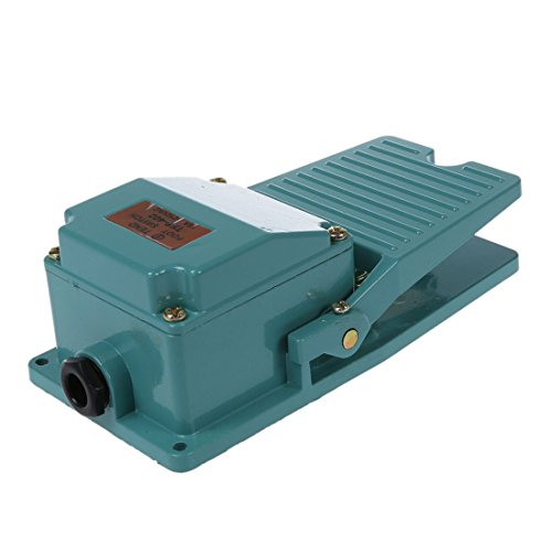 SODIAL(R) AC 250V 15A 1NO 1NC Momentane Pedale Interrupteur au pied avec Cable Gland