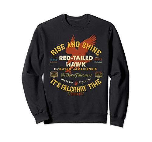 Diseño de halcón de cola roja de halconero Suministros de Sudadera