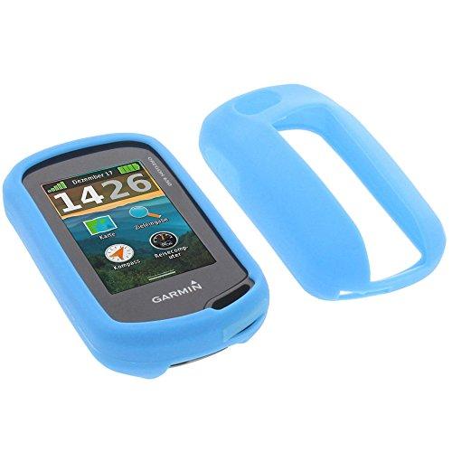 foto-kontor Tasche für Garmin Oregon 650 Oregon 650t Schutzhülle Silikon Case Schutz Hülle blau