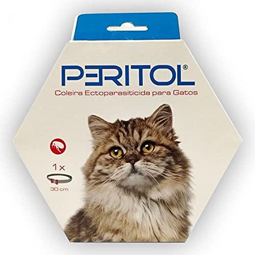 Peritol -Collar antipulgas y garrapatas para Gatos, Resistente al Aqua, protección Activa de hasta 4 Meses, 30 centimetros, para qualquier tamaño de Gato