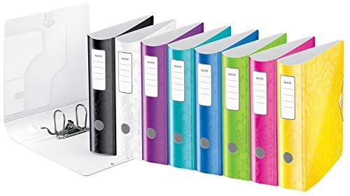 LEITZ Ordner 8cm Active Wow breit Sparpaket 10 Stück farbig sortiert