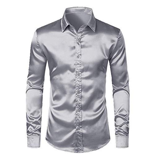 N\P Camisas formales de lujo para hombre elegantes camisas de esmoquin casuales