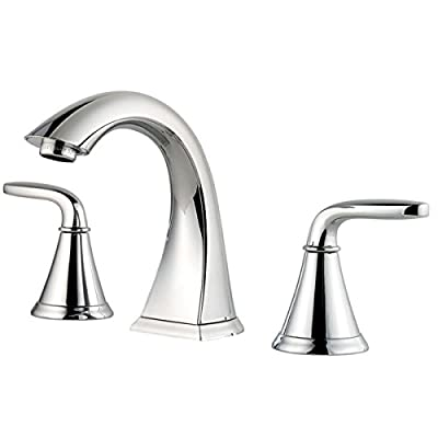 Pfister LF049PDCC Pasadena 2 Handle 8 Inch Widespread Bathroom Faucet in Polished Chrome