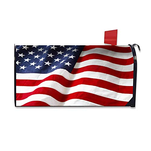 """FEDDIY Mailbox Covers, Flag USA Magnetic Mailbox Wraps Post Letter Box Cover Standard Size 20.8""""(L) x 18""""(W) for Garden Yard Decor"""