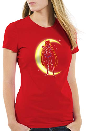 style3 Bunny Media Luna Camiseta para Mujer T-Shirt...