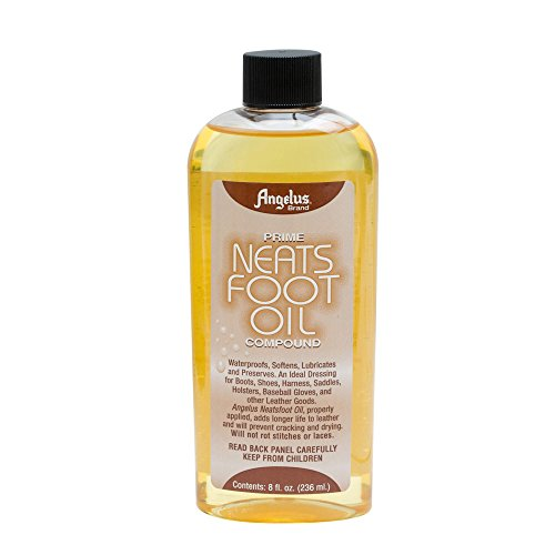 Angelus Brand Prime Neatsfoot Oil Compound Shoes Boots Leather Waterproof Softener Protector Conditioner 8 oz