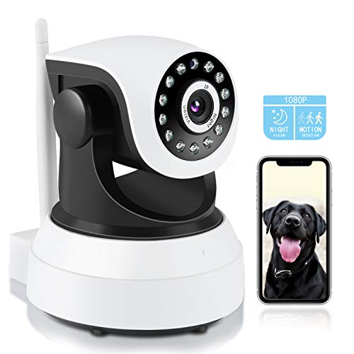 Pet Camera,TSW 1080P HD Wireless IP Camera with Night Vision/2-Way Audio, Pan/Tilt WiFi Indoor Home Dome Dog Baby Nanny Camera,Remote Surveillance Monitor with Phone App
