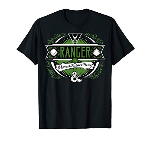 Dungeons And Dragons Ranger Harness Nature's Power Logo T-Shirt