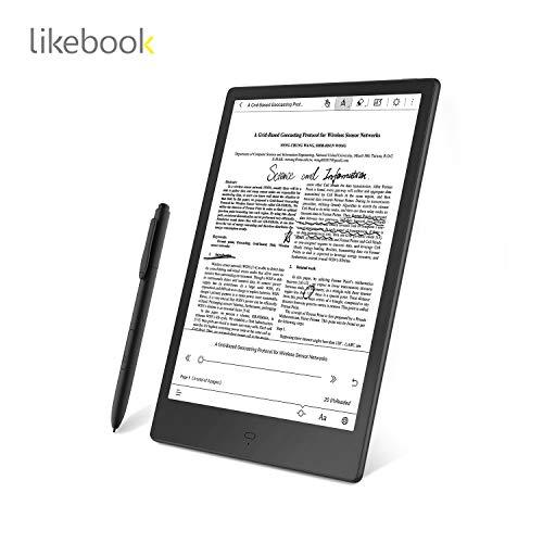 LikebookAlita10.3インチ電子書籍リーダー[専用ハードカバー+手書きスクリーンプロテクター+交換用ペン先+1年間の保証]+高性能PDFリーダーとして+電子インクスクリーン+オクタコアプロセッサ+4GBRAMメモリ+32GBストレージ,Android6.0搭載,手書き入力をテキストに自動変換,Type-Cを搭載し高速データ転送、イヤホンやOTGに対応.
