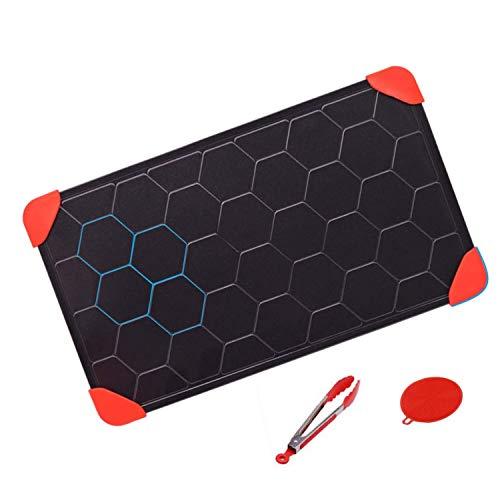 WYHQL Auftautablett Auftauplatte | Honeycomb Design 3mm Dicke Auftauteller Fleisch/Tiefkühlkost schnell auftauen | Sicher Keine Chemikalien, Keine Mikrowelle