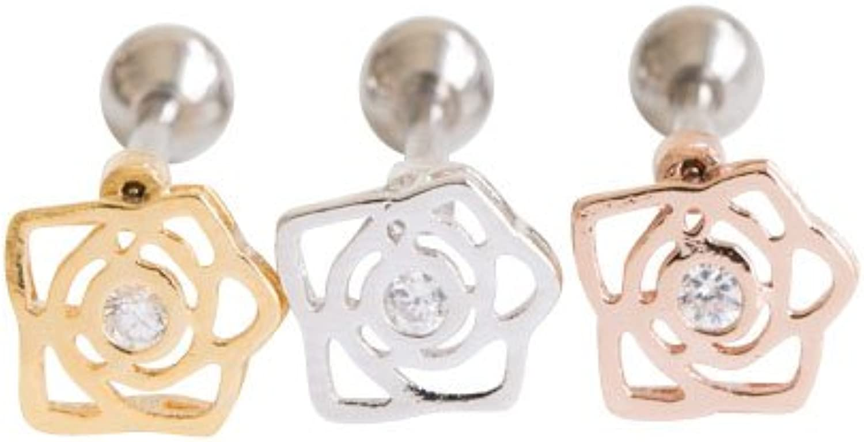 Flower piercingMO, flower piercing, flower shape piercing, flower jewellry,Barbells, Body Jewelry, body piercing, curved barbells,fake piercing, jewelry, microdermal piercing, nostril piercing,p