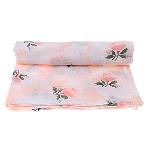 D DOLITY Pañales de muselina para envolver al bebé | Tamaño 110 cm x 110 cm | Pañales de gasa para niños y niñas – Rosa
